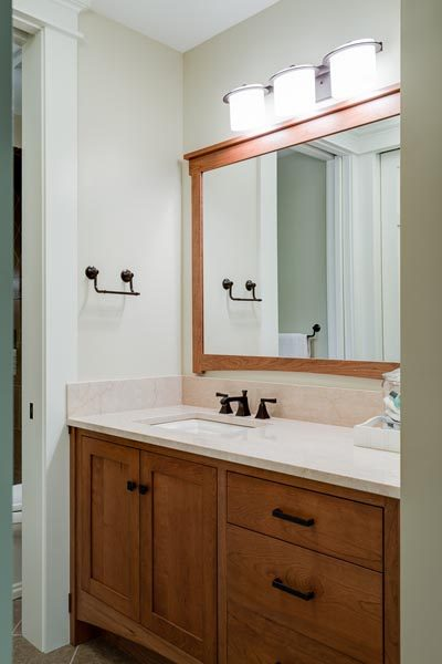 Bath Cabinetry Project Woodworking By Garner Woodworks