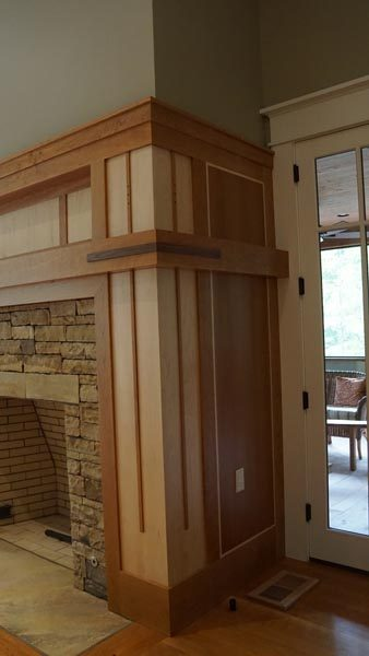 Custom Built Fireplace Wood Working