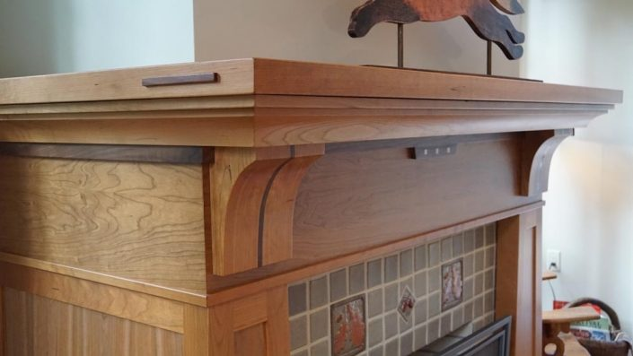 Fireplace Mantle Corner By Garner Woodworks Asheville NC