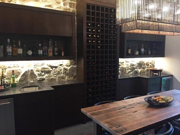 Wet Bar and Wine Storage Rack By Garner Woodworks