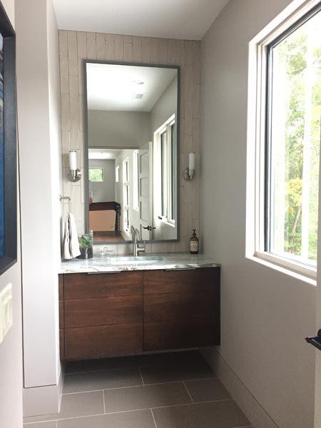 Marble & Wood Cabinet Bath By Garner Woodworks