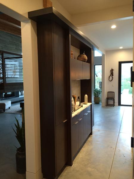 Hallway With Custom Cabinetry From Garner Woodworks