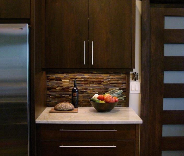 Prep Area By Refrigerator By Garner Woodworks