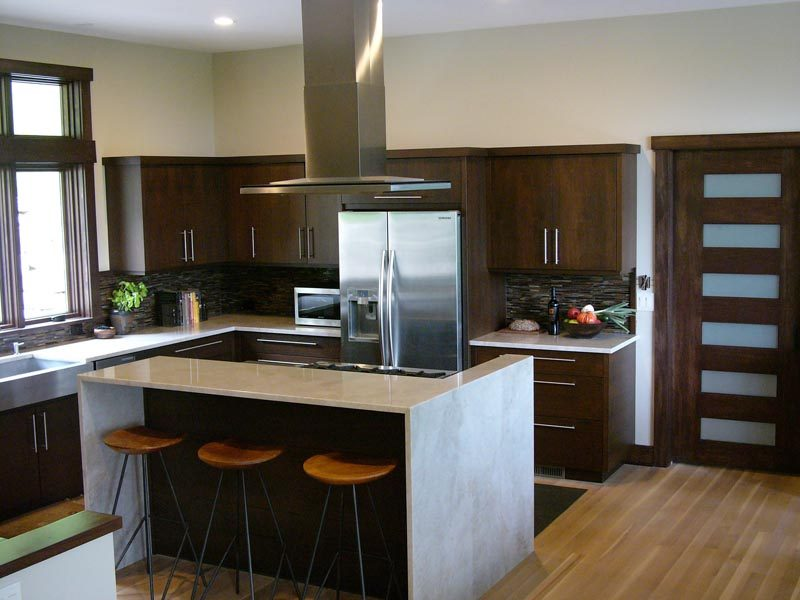 Kitchen with Custom Built Cabinets By Garner Woodworks